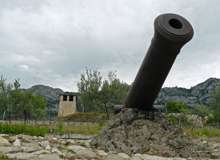 View of a cannon at Kruje Castle