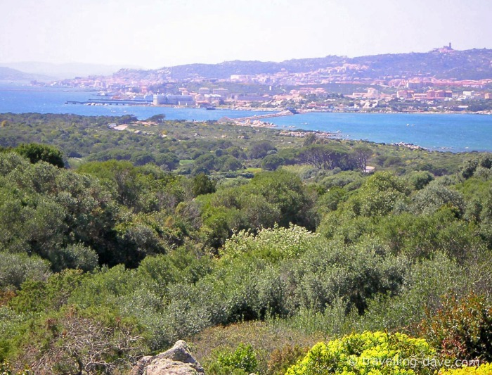 The island of Caprera seen from La Maddalena