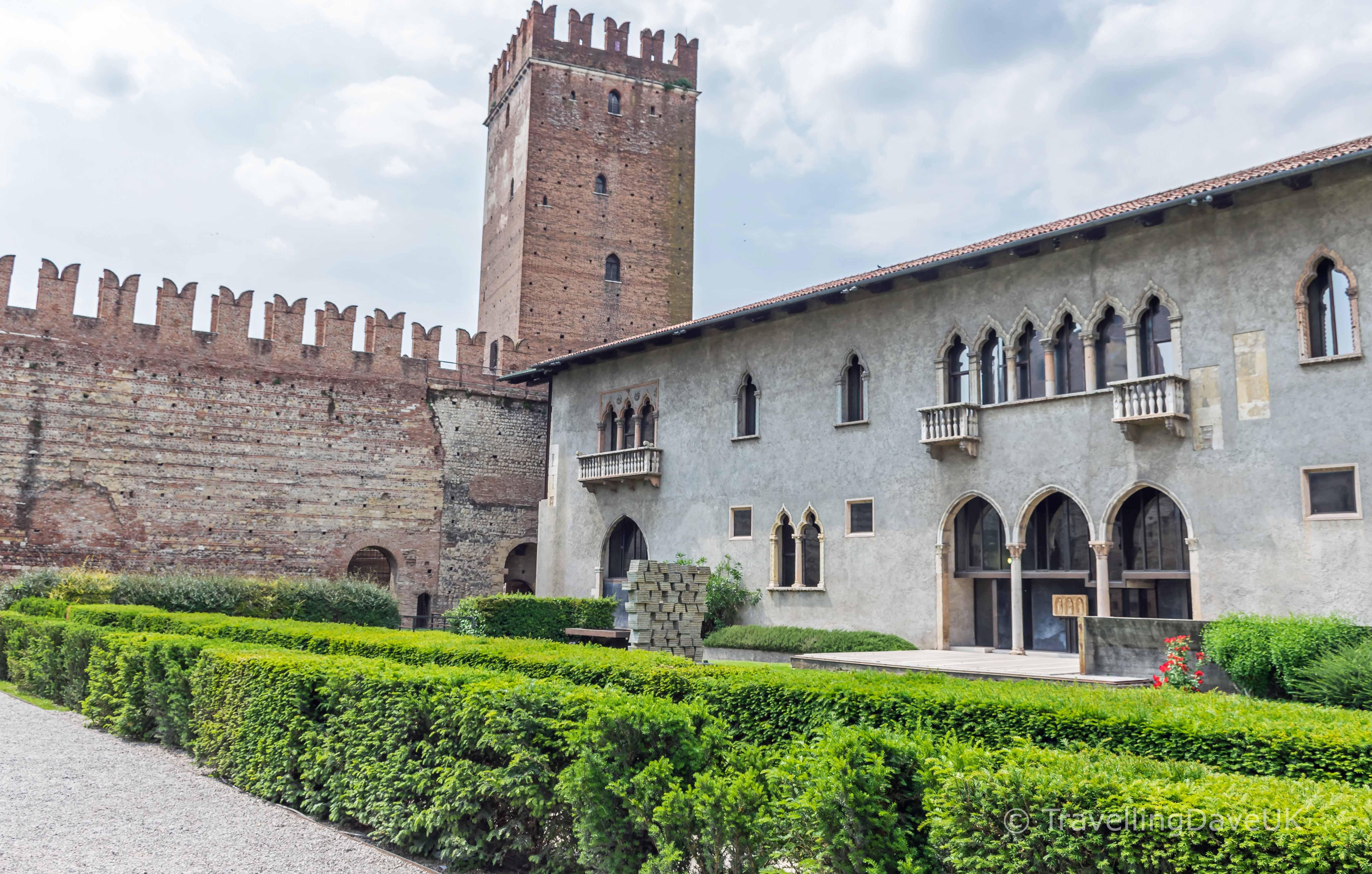 View of the courtyard of Castelvecchio