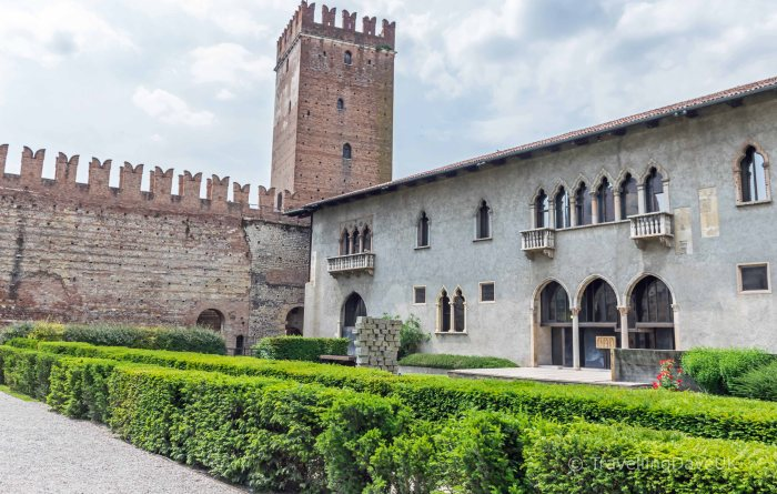 View of the courtyard of Castelvecchio