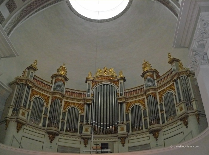 Looking up at the Organ at Helsinki Cathedral