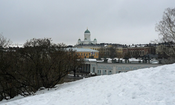 View of Helsinki Cathedral on a winter's day