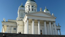 Looking up at Helsinki Cathedral