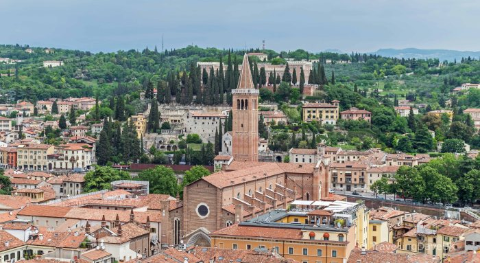 View of Santa Anastasia church in Verona