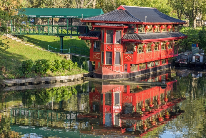 Regent's Canal floating Chinese restaurant in London