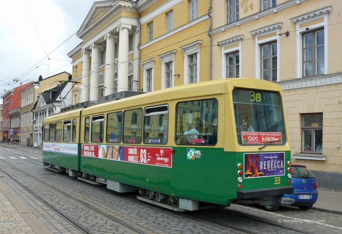 One of Helsinki city trams