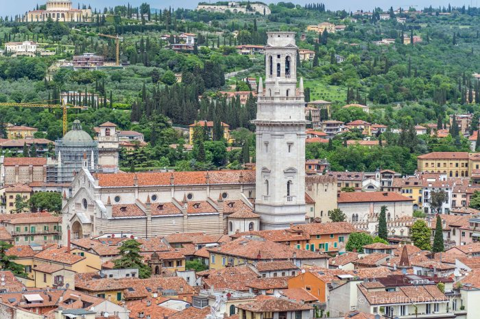 Verona Cathedral seen from Torre dei Lamberti