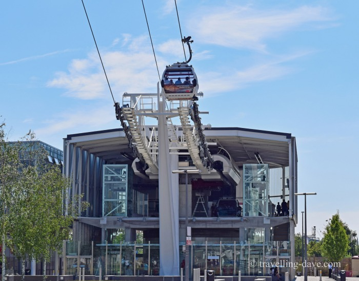 The Greenwich station of the Emirates Air Line cable car in London