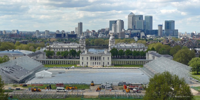 The equestrian events arena at Greenwich Park