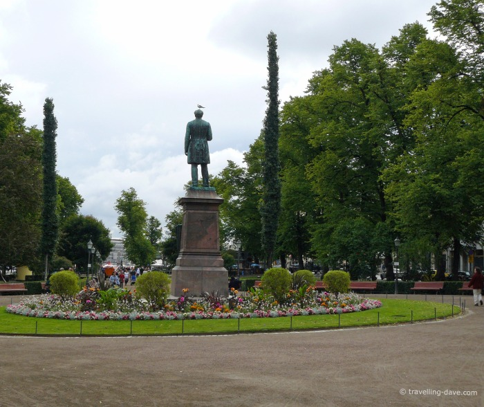 View of Helsinki Esplanade Park