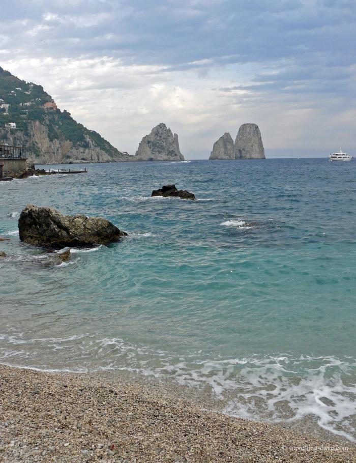 View of Capri's famous Faraglioni