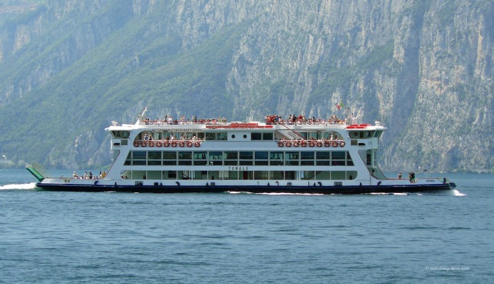 One of Lake Garda's ferries