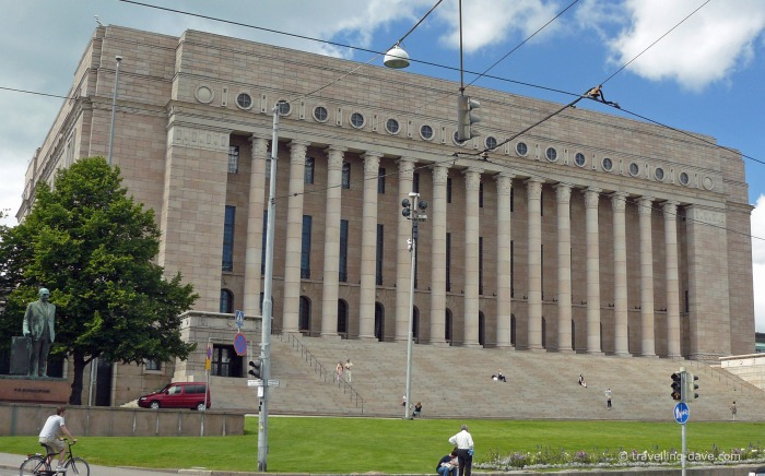 View of Helsinki Parliament House