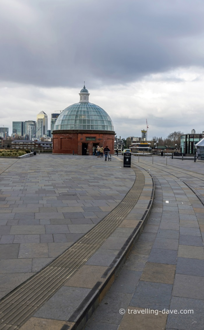 The entance to Greenwich foot tunnel in London