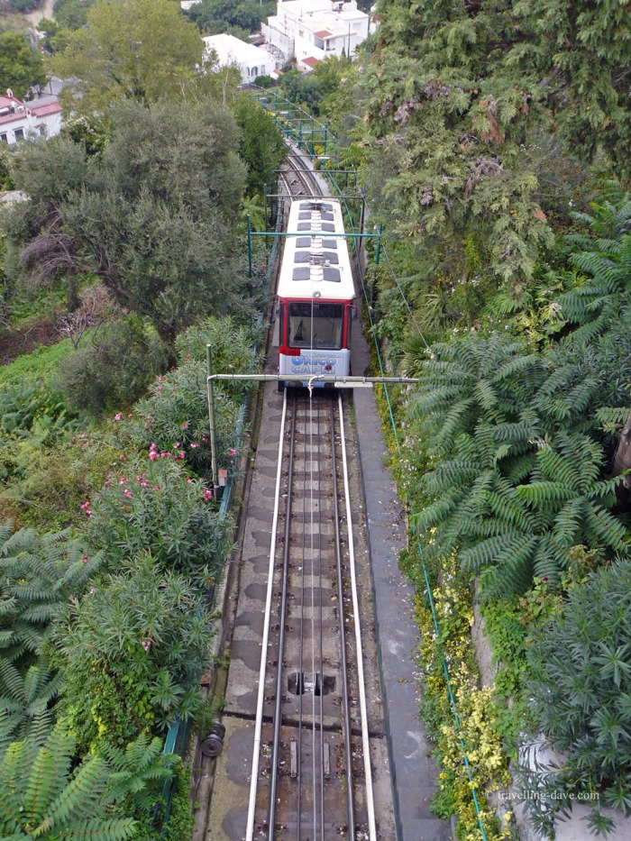 View of the funicular in Capri