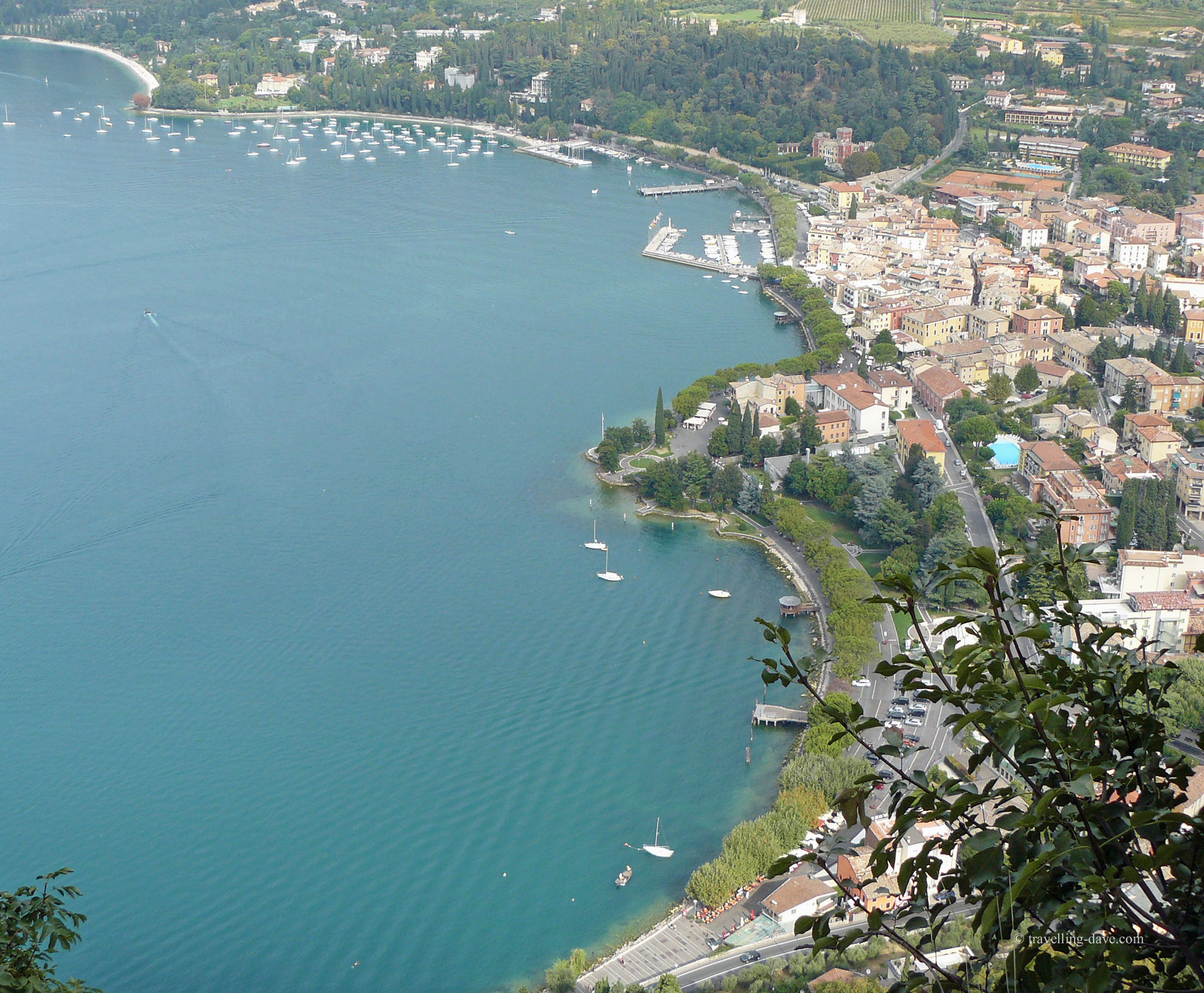 The village of Garda seen from the top of the Rock