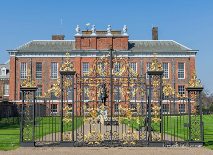 View of the gates at Kensington Palace