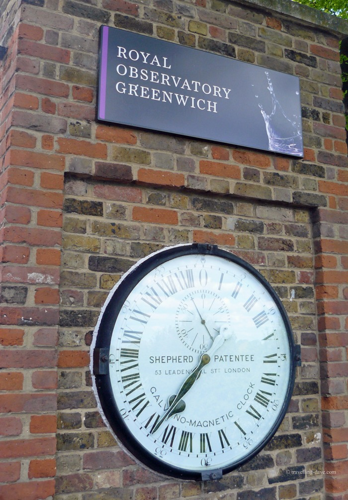 The clock outside the Royal Observatory in Greenwich