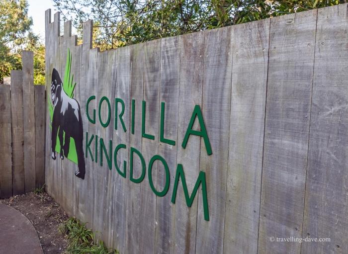 Entrance to London Zoo gorillas enclosure