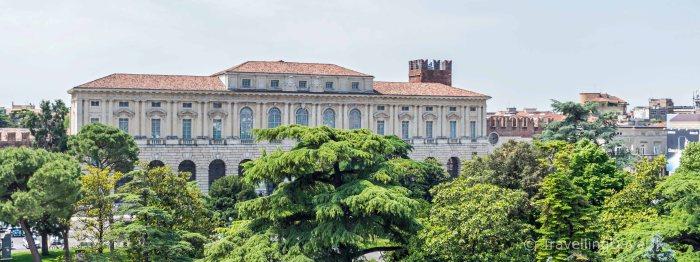 View of the Gran Guardia Palace in Verona