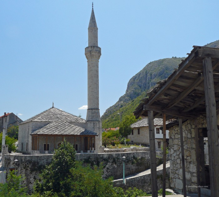 View of Mostar's Hadzi-Kurt mosque