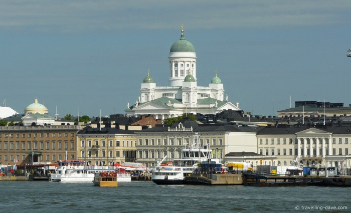 View of Helsinki from the water
