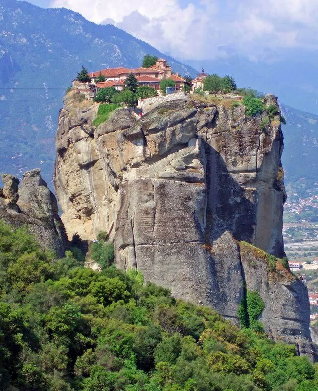 Panoramic view of Holy Trinity Monastery, Greece