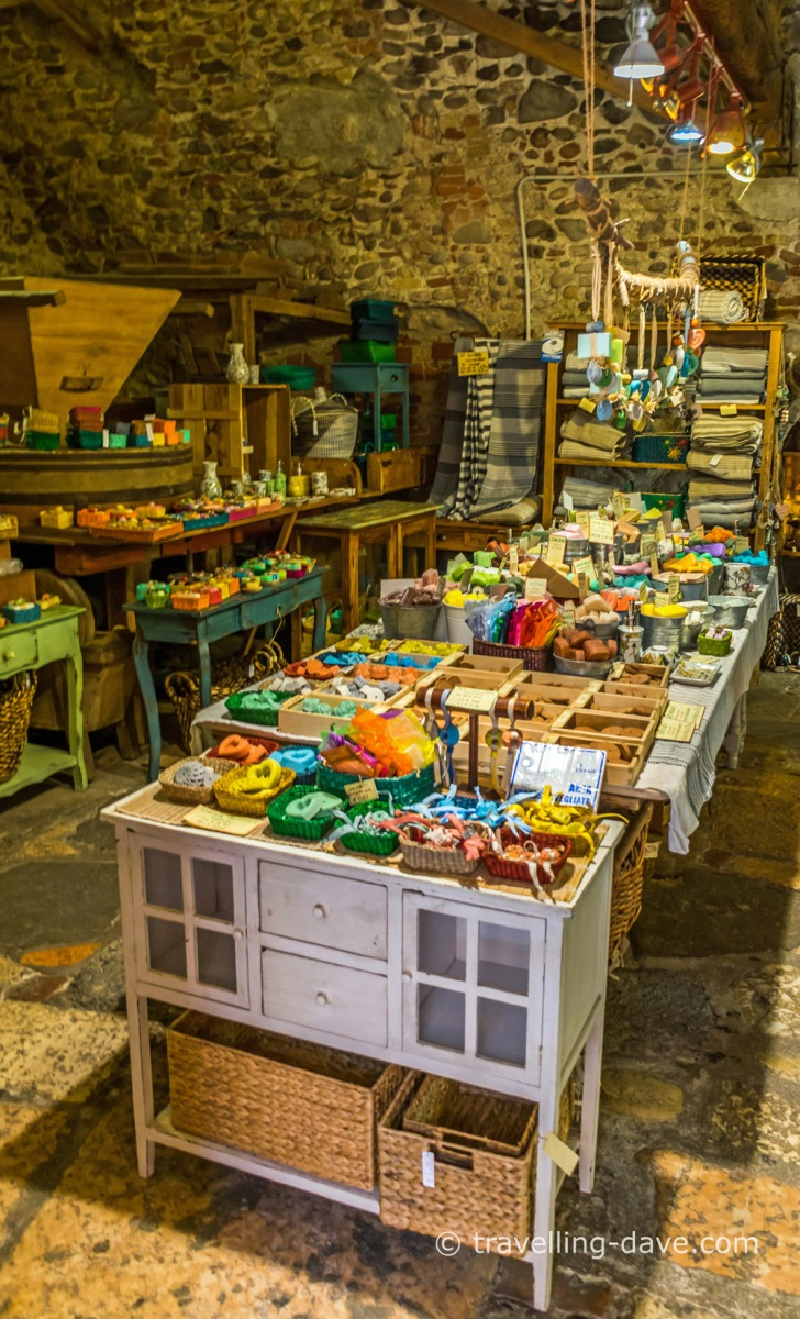 Inside one of Borghetto sul Mincio shops