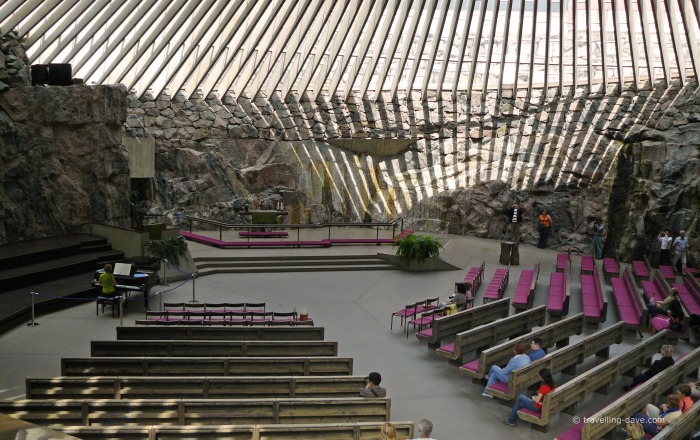 View of the interior of Temppeliaukio Church
