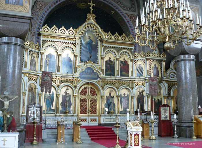 Icons at Uspenski Cathedral
