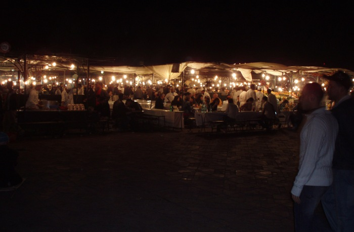 Evening at Marrakech Jemaa el Fnaa