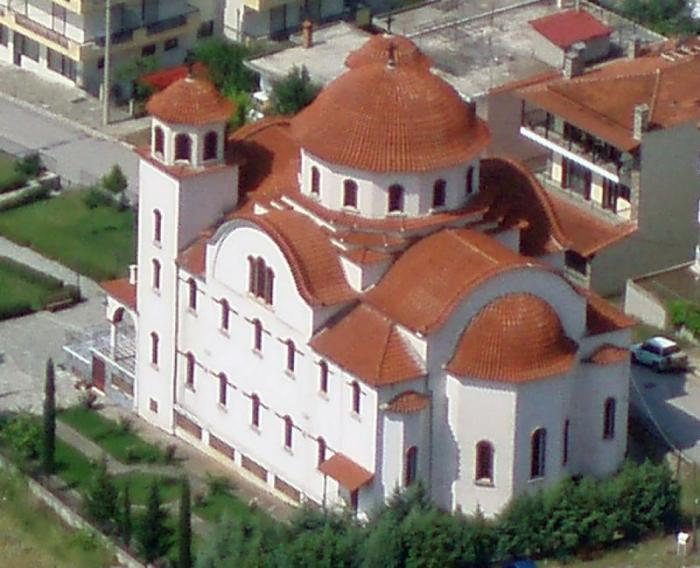 The church of Kalampaka in Greece