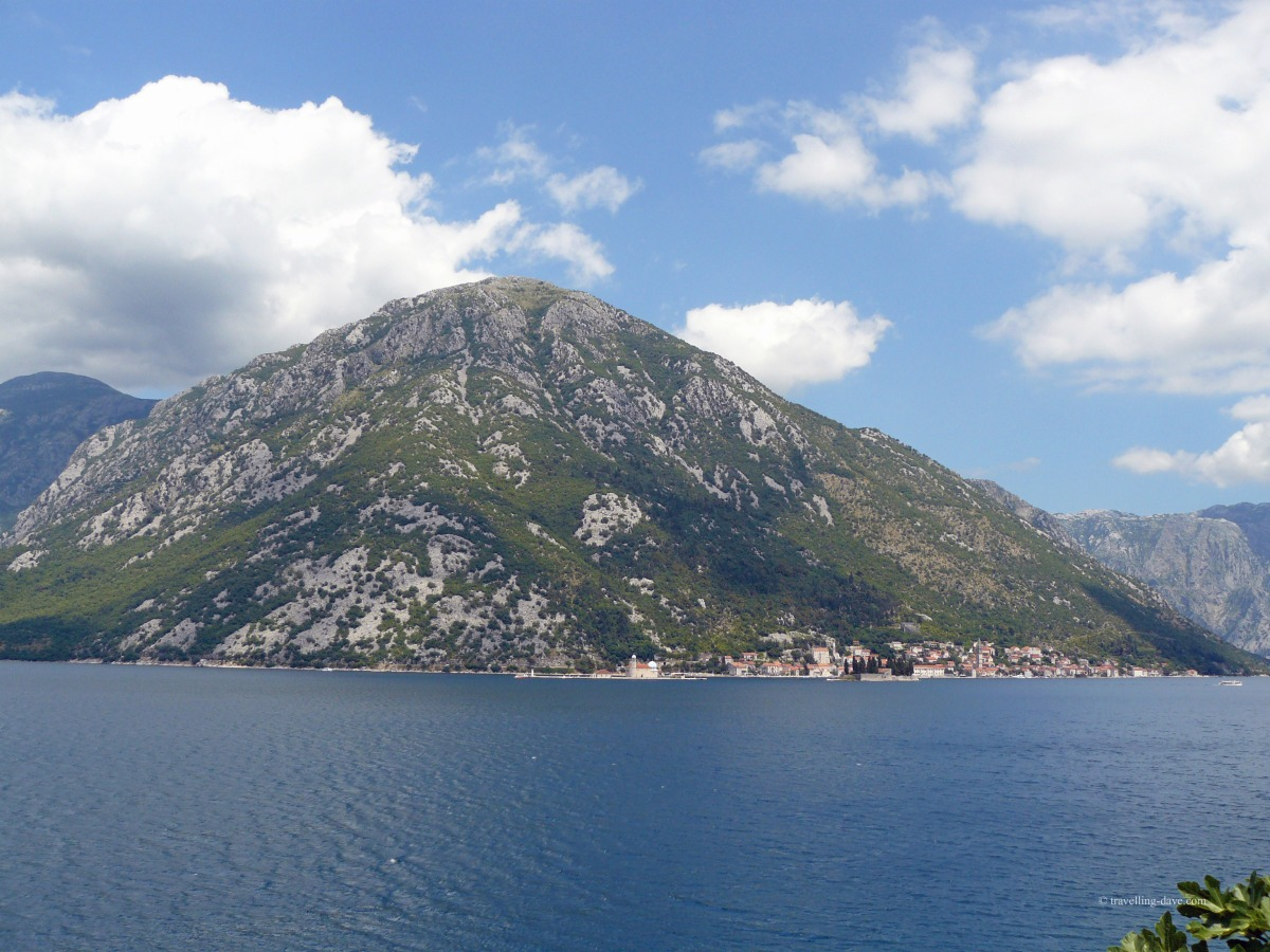 The blue waters of Kotor Bay