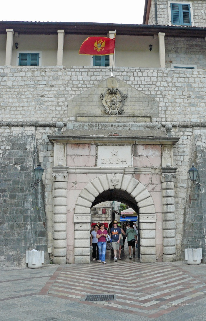 Gate at the entrance of Kotor in Montenegro