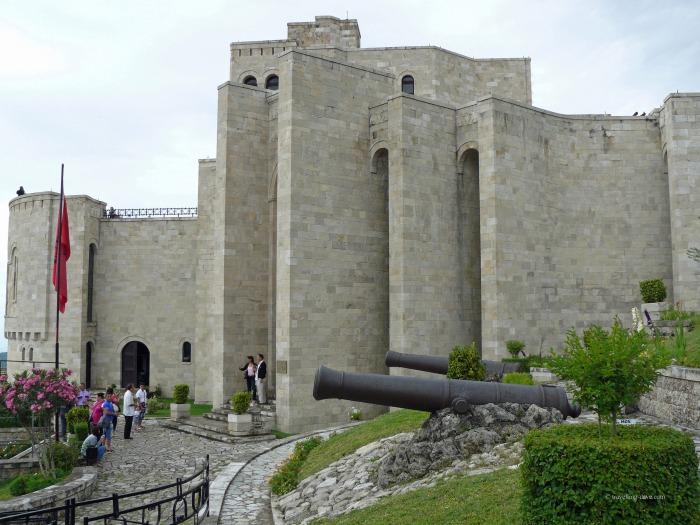 View of Kruje Castle in Albania