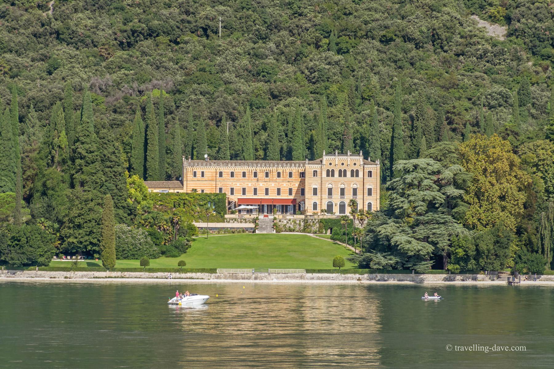 One of the beautiful lakeside villas on Lake Garda