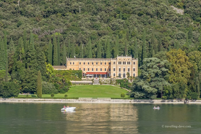 One of the beautiful lakeside villas on Lake Garda