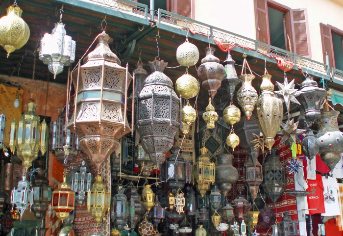 Lanterns for sale in Marrakech