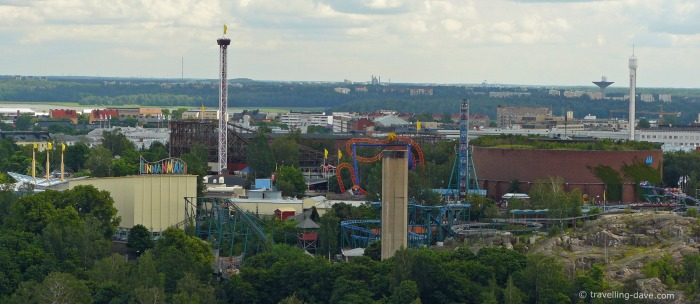 View of Helsinki Linnanmaki Amusement Park