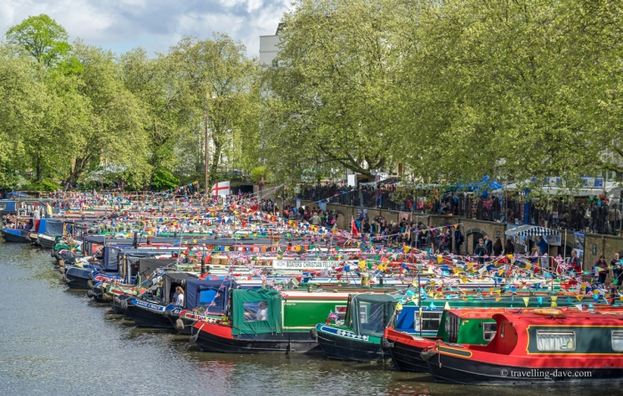 Boats at Little Venice in London