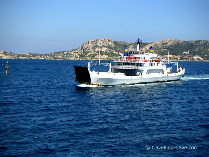 One of the ferries in Sardinia