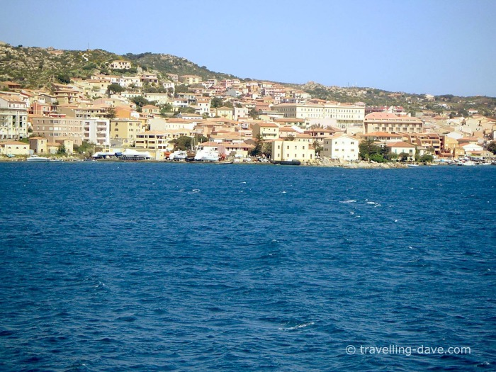 The town of La Maddalena seen from the sea