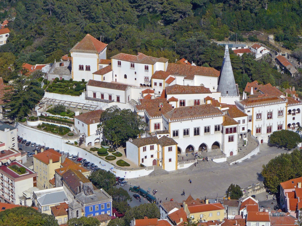 Aerial view of Sintra town center