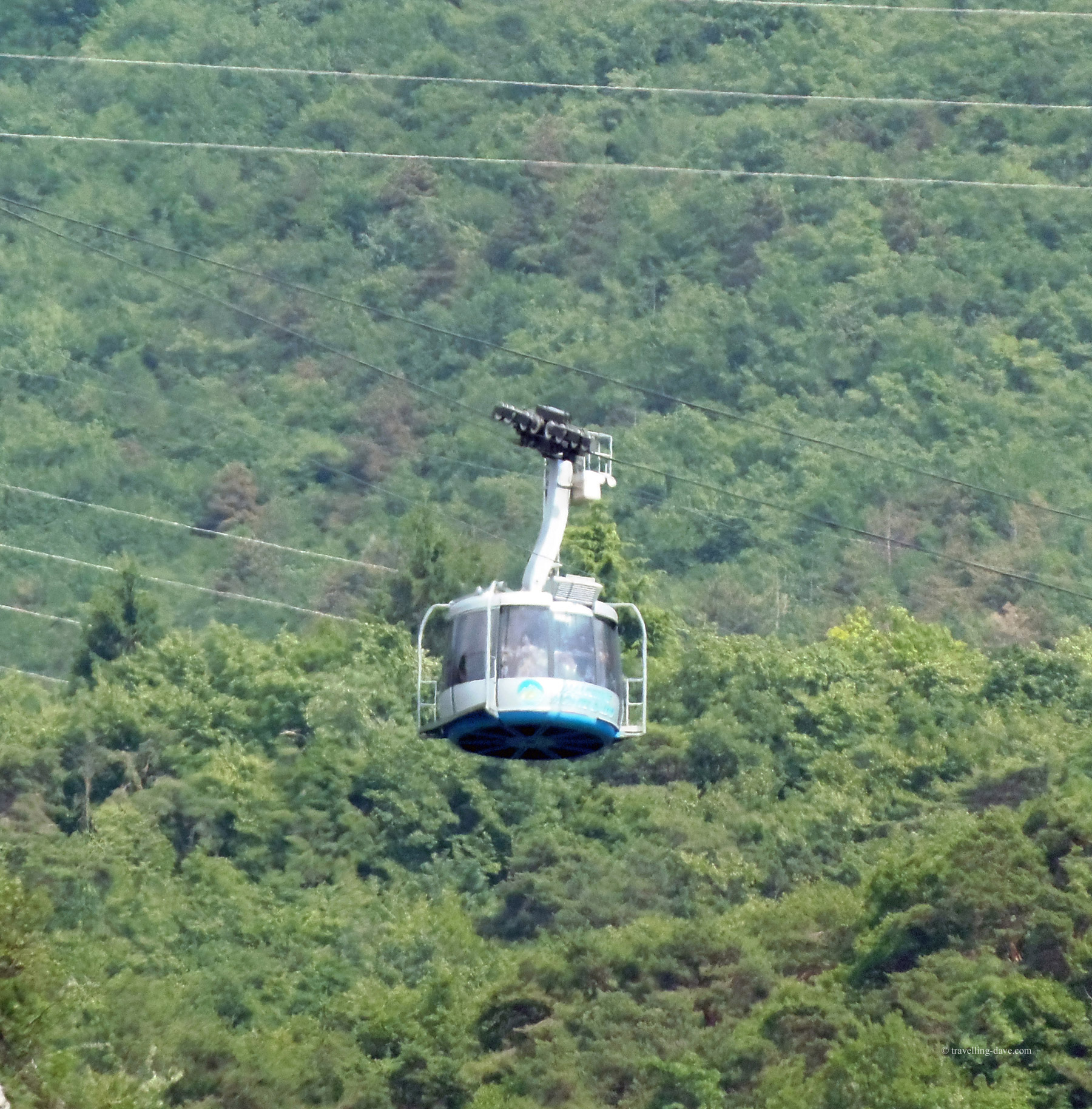 The cable car connecting Malcesine to Monte Baldo in Italy