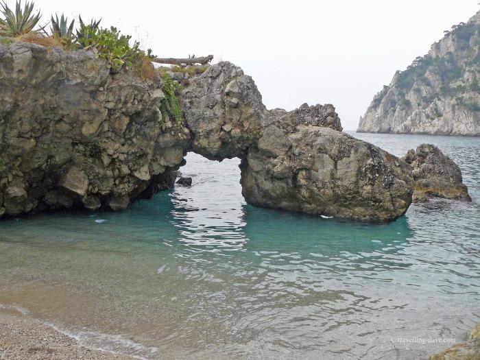 The sea at Capri's Marina Piccola