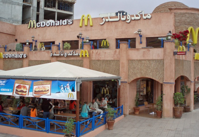 One of Marrakech McDonald's restaurants