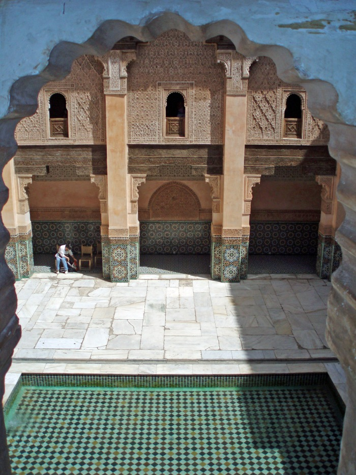 The courtyard at Marrakech Ben Youssef Medersa
