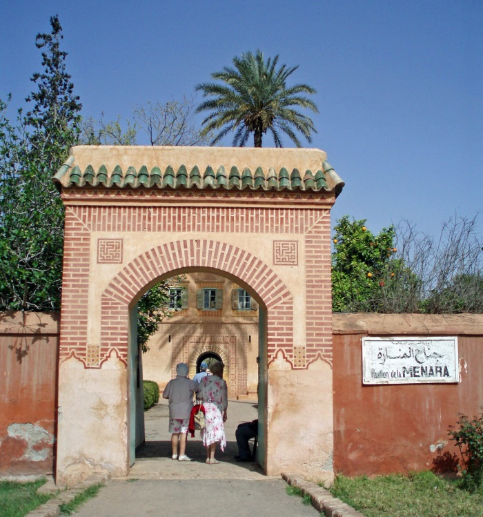 Entrance to the Menara Pavilion in Marrakech
