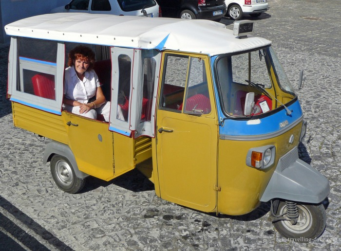One of Procida microtaxis