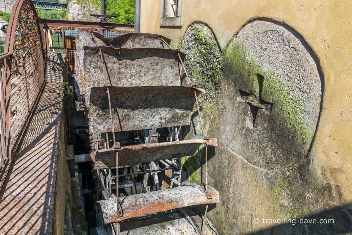 Wheel of one of Borghetto sul Mincio mills